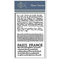 パリの11 * 16cmテキスト透明クリアスタンプ/ DIYスクラップブッキングpoアルバム/カード作成用シリコンシールローラースタンプ