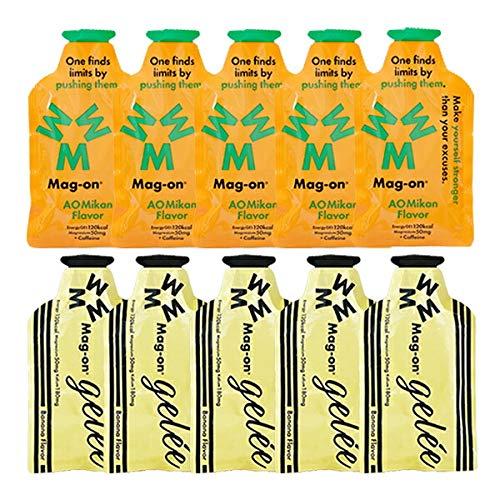 Mag-on マグオン エナジージェル 2味10個(各5個)セット(バナナ、青みかん)(オリジナル補給食説明書付)【sotoasoオリジナルセット】