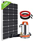 DCHOUSE Bomba de agua solar Kit w/100 W poli panel solar y de 15 a Solar controlador de riego