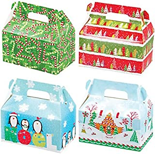 Christmas Holiday Treat Boxes ~ For Holiday Foods and Gifts ~ Includes 4 boxes and Gift Tags