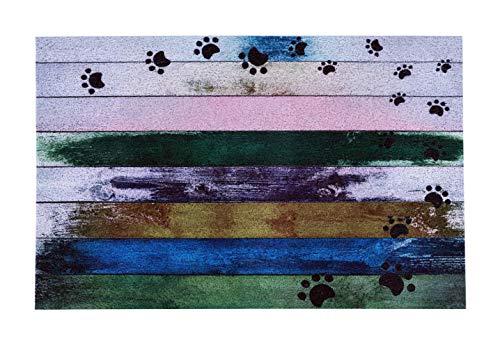 """Darkyazi 23.6"""" x 35.4"""" Colorful Doormats Entrance Front Door Rug Funny Outdoors/Indoor/Bathroom/Kitchen/Bedroom/Entryway Floor Mats,Non-Slip Rubber (Dog paw Print-2)"""