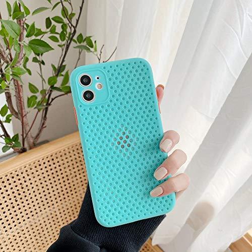 KASHINO Malla transpirable nueva funda para iPhone 11 PRO MAX XR 7 8 Plus XS MAX 6S 7S transpirable anti caída protección caso de verano color-G para iPhone XS