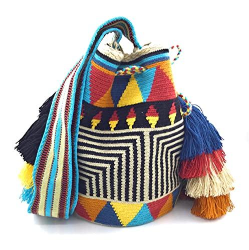 COLOMBIAN STYLE Bolsos Colombianos Artesanales de campana, mochila Wayuu tanto para mujer como para hombre.