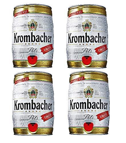 4 Fässer Krombacher Pils a 5 Liter Pfandfrei Partyfass