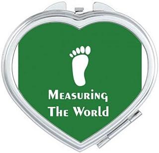 Measuring World Sports Footsteps Mirror Travel Magnification Portable Handheld Pocket Makeup