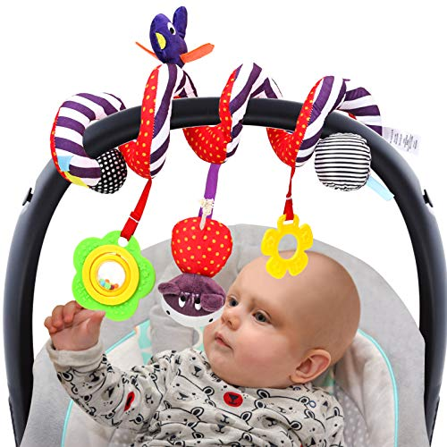 ZJQY Baby Boy Girl Toys Gifts 0-12 Months, Stroller Car Seat Rattles Toys for Infants Baby Newborn Baby Toys 0-3 3-6 6 to 12 Months Kansas
