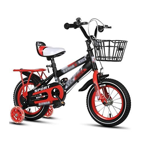 Deportes Al Aire Libre Bicicleta For Niños Niños Y Niñas Niños 2-3-4-6-7-8 Años Cochecito De Bicicleta Rueda De Entrenamiento For Niños Privados Bicicleta (Color : Red, Size : 12 Inches)