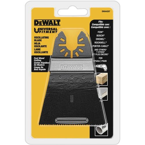 Buy Cheap DEWALT Oscillating Tool Blade for Wood, Wide, Fast Cutting (DWA4207)
