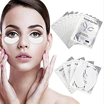 Under Eye Gel Pads 100 Pairs Under Eye Patches Isolation Eyelash Extension Pads Lint Free Beauty Mask Tool Makeup for Pro Salon and Individual by Sunallwell