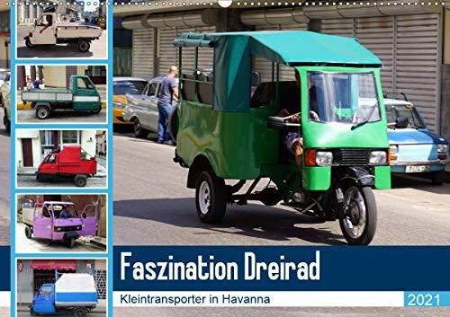 Faszination Dreirad - Kleintransporter in Havanna (Wandkalender 2021 DIN A2 quer)