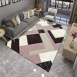 alfombras infantiles grandes alfombra oficina Sala de estar Alfombra geométrica Color de arroz Rosa rectangular estilo contemporáneo cuadros cabecero cama matrimonio 140X200CM 4ft 7.1'X6ft 6.7'