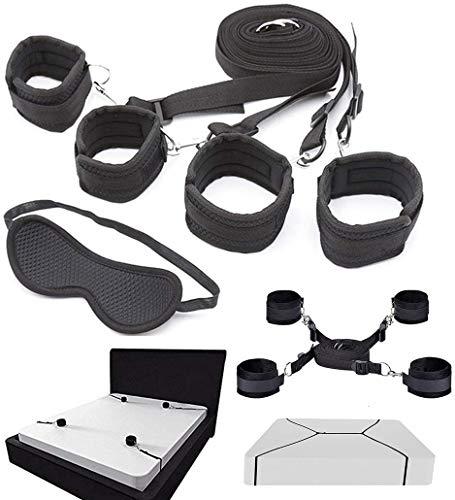 HeyFun Set of Bed Rëštrâîňtš & blindfold Underbed Adjustable Straps