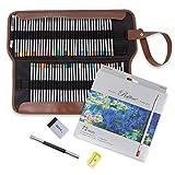 Marco Raffine 72 lápices de colores, con bolsa de lona plegable, para libros de colorear para adultos, dibujo, escritura, diseño
