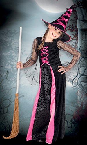 Boland- Costume Bambina Streghetta Webbed Witch, Rosa/Nero, 7-9 anni, 78022
