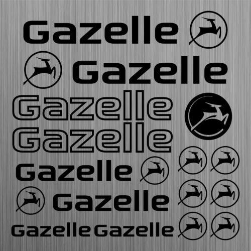 SUPERSTICKI®, gazelle sticker, 15 stuks, hoogwaardige folie, uv- en wasstraatbestendig, tuningsticker, professionele kwaliteit, auto, raam, lak, professionele kwaliteit