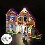Juego de Luces LED de Amigos de Serie Chica MIA Casa Educación Juguetes Compatible con 41369 Building Blocks Set de iluminación (no Incluido Edificio)