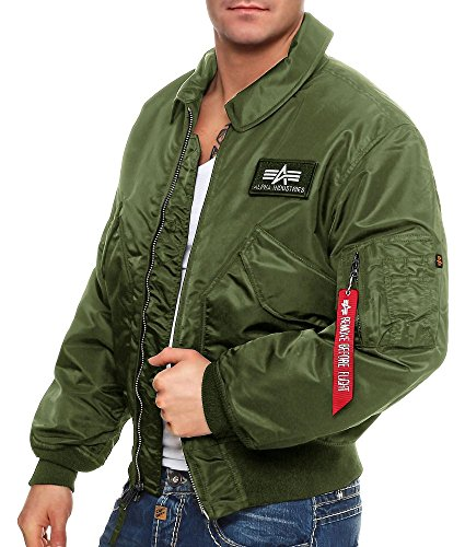 Alpha Industries Herren Jacke CWU 45, Sage Green, XXL