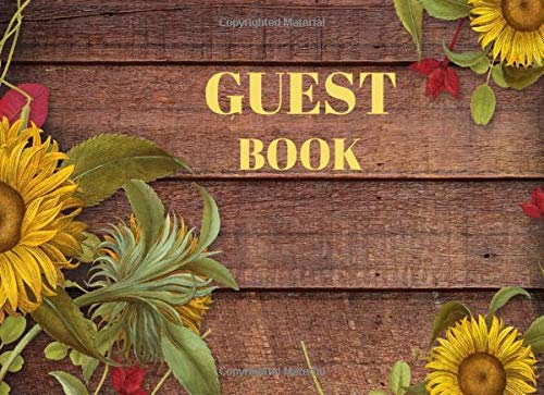 Guest Book: Rustic Guest Book For Vacation Home, Rental, B&B, Beach House, Cabin  (110 Unlined Pages Blank)
