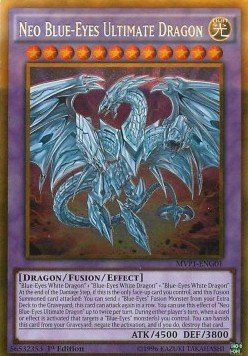 Yu Gi Oh Neo-Blauäugiger Ultimativer Drache - MVP1-DEG01 - Gold Rare