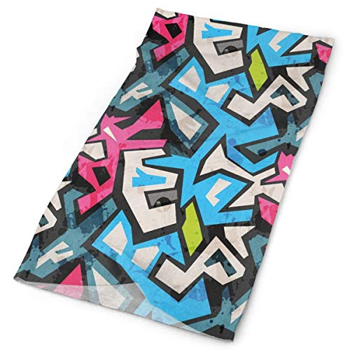 GUUi Headwear Headband Head Scarf Wrap Sweatband,Street Art Theme with Colorful Graffiti Funky Display Underground Urban Culture,Sport Headscarves For Men Women