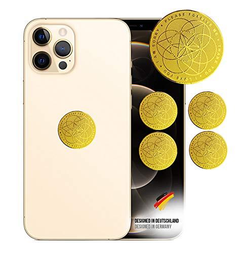 goVital Gold, Strahlenschutz Handy Aufkleber, Strahlung Abschirmung, Elektrosmog EMF, 5G Neutralisierer für WLAN, Laptop, Handy