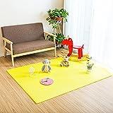 Fenfen PE Mat Puzzle Mosaic Crawler Mat Dormitorio para niños Tatami Floor Mat 6 / Bolsa, Azul/Verde/Amarillo/Rojo/Powder/m/Brown, 60x60 * 1.2cm (Color : Yellow)