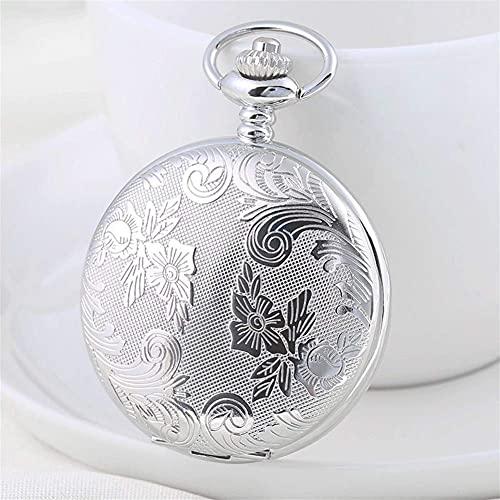 Reloj de Bolsillo, Sepia Pareja Shiying Huai Table Day Gift Ideas Cumpleaños Hombres y Mujeres Flip Complex Que Pocket Watch (Color: C)
