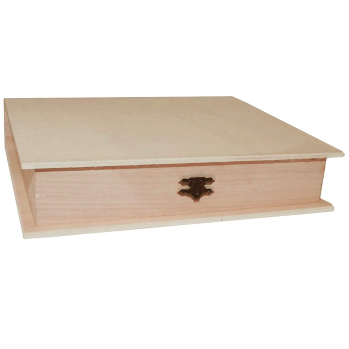 Re-Star Caja de Madera con Forma de Libro 4.6 x 24.7 x 18.6 cm: Amazon.es: Hogar