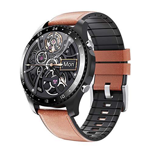 MMFFYZ SmartWatch para iOS Android, Tracker Fitness Reloj Inteligente Temperatura Corporal EKG Reloj De Aptitud Reloj De Corazón IP68 Reloj Inteligente Impermeable(Color:Y)