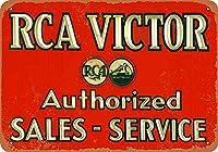 RCA Victor Sales & Service 金属板ブリキ看板警告サイン注意サイン表示パネル情報サイン金属安全サイン
