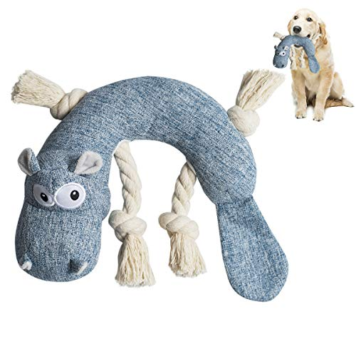 Growom Squeaky Dog Chew Toys Dog Interactive Plush Rope Knots Toys Chew Toys Chewing and Durable Toys for Puppy Dogs and Medium Dogs