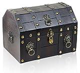 Brynnberg - Caja de Madera Cofre del Tesoro con candado Pirata de Estilo Vintage, Hecha a Mano,...