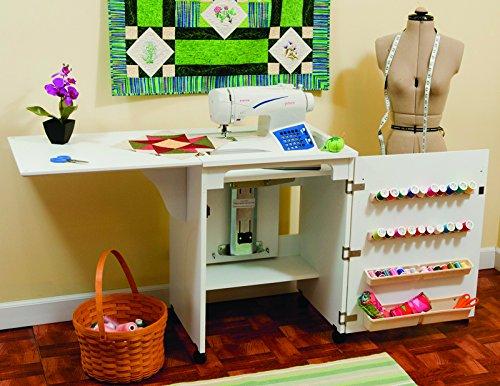 Armario blanco Sewnatra para máquina de coser, 171 x 49¾ x 77½cm, 98501, de Arrow Cabinets