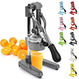 Zulay Professional Citrus Juicer - Manual Citrus Press and Orange Squeezer - Metal Lemon Squeezer - Premium Quality Heavy Duty Manual Orange Juicer and Lime Squeezer Press Stand, Gray
