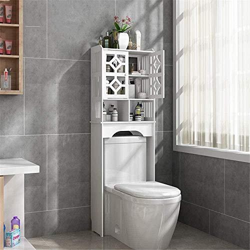 Estanterías de baño Aseo sobre el gabinete Baño de baños de punzonado Gratis baño baño Baño Baño Rack Bathroom Rack Excellent