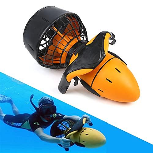Wan&ya Scooter eléctrico subacuático 300W Mar eléctrico de Doble Velocidad Hélice de Agua Buceo Scuba Scooter Buceo Profesional Equipo de esnórquel para Deportes acuáticos