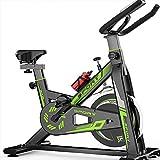 LMZZGAOYANQING Bicicletas de Ejercicio magnético Bicicleta de Ciclismo Interior de la Unidad de cinturón estacionario con una Capacidad magnética Ajustable de Alta Capacidad con Monitor LCD,Verde