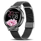 Smartwatch Damen,Yocuby Smartwatch für Android iOS,Voller Touchscreen Fitness Tracker wasserdichte Sport Smartwatch für Damen,Geschenk für Sie