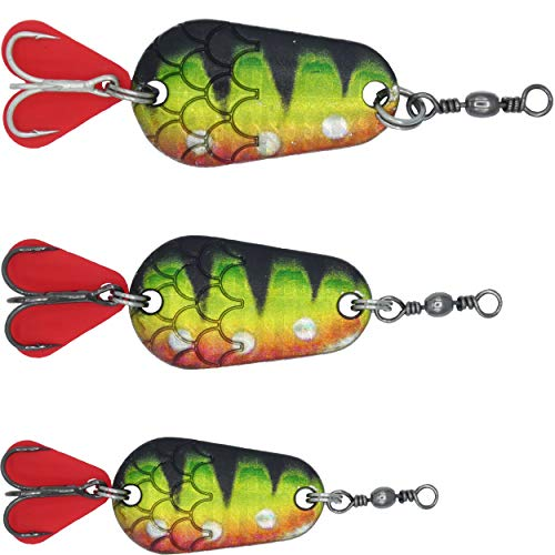 Paradox Fishing Blinker Set (3 Stück) 6g / 10g / 16g Hechtköder Barsch Köder Zander Köder Hecht Köder Barschköder Spinner Angelköder Jigspinner Raubfisch Köder Set - Blinker Angeln (Barsch)