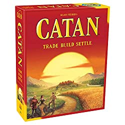 in budget affordable Catan board game, colorful