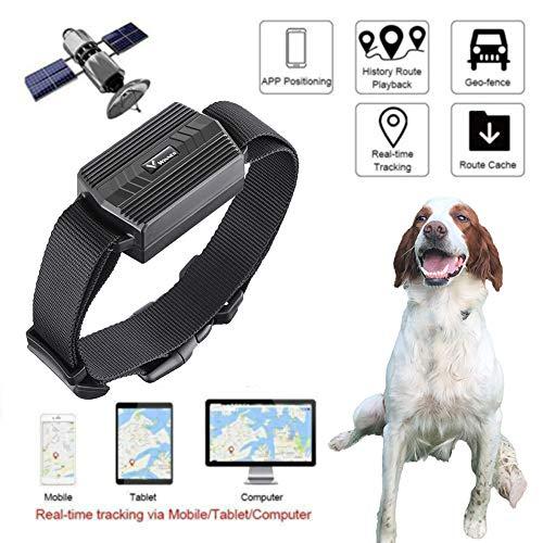Zeerkeers GPS Tracker, TK935 Waterdichte Oplaadbare GPS/GSM/GPRS Tracker Hond Tracking Device 50 Dagen Standby Real Time GPS Locator Voor Hond, Paard, Schapen Dieren met Gratis APP