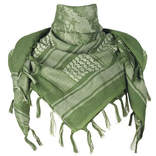 Explore Land Cotton Shemagh Tactical Desert Scarf Wrap (Green Camo)