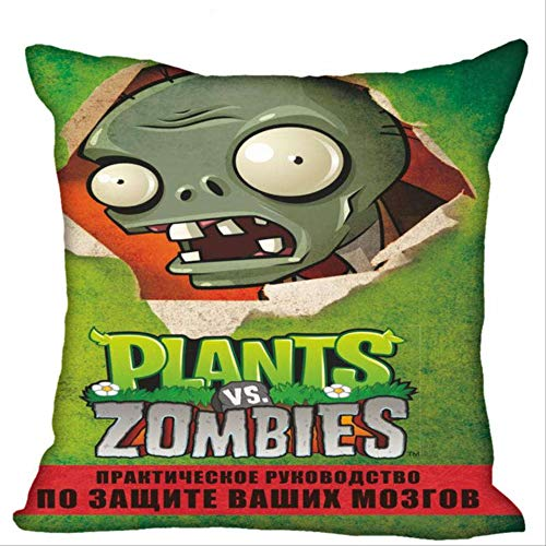 N\A Plants Vs Zombies Pillowcase Wedding Decorative Pillow Case Gift For Pillow Cover 45 * 45CM V
