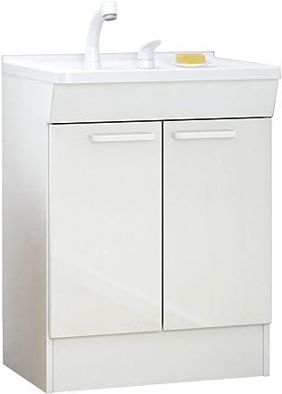 TOTO 洗面化粧台(KCシリーズ) 間口600 2枚扉 シンシアホワイト 寒冷地向け LDCL060BAGES1B