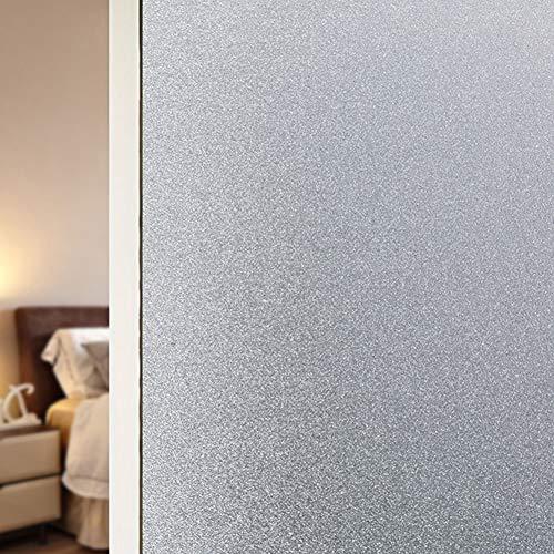 TopJi® privacy matglas raamfolie, zelfklevend, statische hechtende decoratie, zonder lijm anti-uv glasfolie, voor thuis en op kantoor 120x100cm(47.2x39.4inch) melkglas