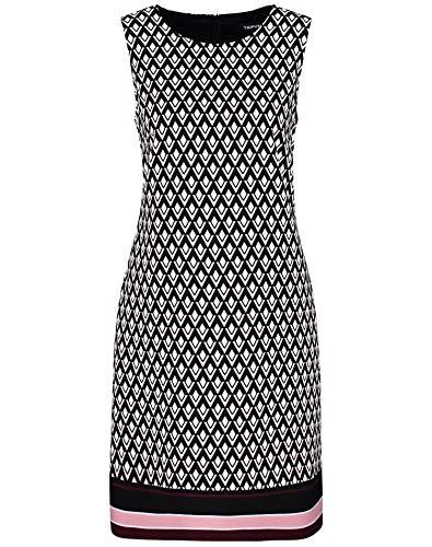 Taifun Damen 480014-18125 Kleid, Mehrfarbig (Black Gemustert 1102), (Herstellergröße: 36)