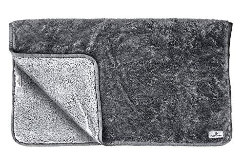 Pet Parents Pawtect Waterproof Pet Blanket, Premium Dog Blanket with WickQuick & Sherpup Technology, Comfy Dog Throw Blankets, Quality Blankets for Dogs & Cat Blanket, Slate 50x60 Puppy Blanket