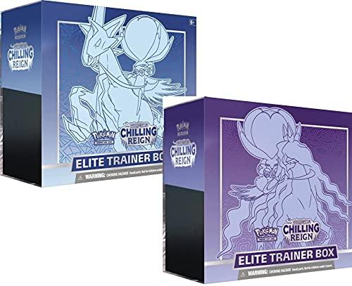 Pokemon 177-80863 Sword & Shield—Chilling Reign Elite Trainer Box, Mehrfarbig
