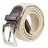 Canvas Elastic Fabric Woven Stretch Multicolored Braided Belts 2041-BE-L