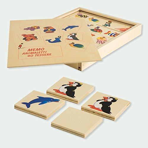 Dida - Das Memo Tierchen. Das Holzmemory Mit Tieren Für Die Grundschule Und Den Kindergarten. Einfaches Kartenspiel Um Tiere Kennenzulernen